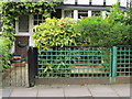 """TQ1981 : """"Wrong"""" gate and fence in conservation area by David Hawgood"""