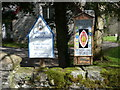 NM8162 : Strontian Church sign by Russel Wills