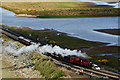 SH5837 : Prince Approaches Boston Lodge, Gwynedd by Peter Trimming