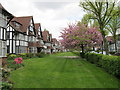 TQ1981 : Flats facing a lawn, Links Road by David Hawgood
