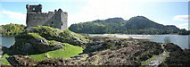 NM6672 : Panorama from Castle Tioram by Russel Wills