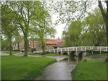 NZ2308 : Footbridge in Barton North Yorkshire by peter robinson