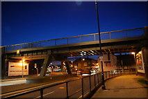 TQ7369 : Railway Bridge over The A2, Strood by N Chadwick