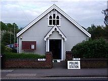 SP2972 : Polling Station, St Barnabas Church, Albion Street, Kenilworth by John Brightley