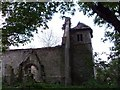 TL1587 : Derelict church by Andrew