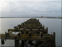 NT2677 : Jetty at Port of Leith by Stephen Sweeney