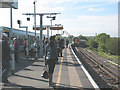 TQ3578 : Commuters at South Bermondsey station by Stephen Craven