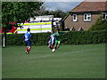 TQ3420 : Football match at Wivelsfield Recreation Ground by nick macneill