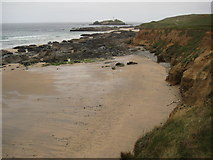 SW5842 : Coast south of Godrevy Point by Philip Halling