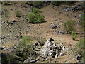 NY2312 : Mountain Slope with Rock Slabs by Trevor Littlewood