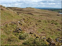 NS2972 : The ruins of Corlick: eastern enclosure by Lairich Rig