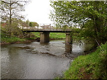 SS6613 : Kersham Bridge on the river Taw as seen from upstream by Roger A Smith
