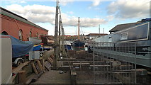 ST5772 : Narrow boat on the Patent Slipway at Bristol Harbour by Anthony O'Neil