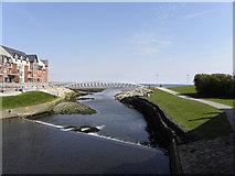 J3731 : Footbridge across the Shimna Estuary by HENRY CLARK
