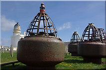 NJ9967 : Buoys at Kinnaird Head by Stephen McKay