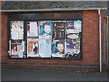 SP2871 : Posters on notice board, Wilton House, Kenilworth by John Brightley