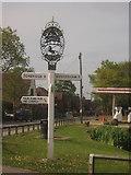 TQ4648 : Four Elms Village Sign by David Anstiss