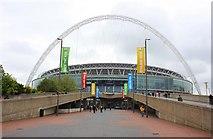 TQ1985 : Wembley Stadium from Olympic Way by Steve Daniels