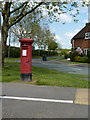 SJ5115 : Post box on the corner of Whitchurch Road and Meadow Farm Drive by Richard Law