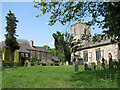 TF8824 : St Martin's church and former vicarage, South Raynham by Evelyn Simak