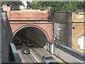 TQ3579 : Rotherhithe road tunnel: southern portal by Stephen Craven