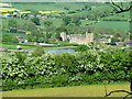 SO4281 : Stokesay Castle and pond from the edge of the woods by Roy Haworth