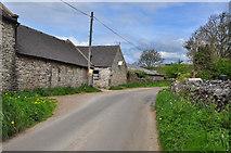SK1855 : Bend in lane at Foufinside Farm - Parwich by Mick Lobb