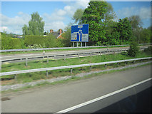 ST0207 : Slip road at Junction 28 for Services eastbound M5 by John Firth