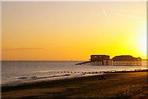 TG2142 : Cromer Pier at Sunrise by Christine Matthews