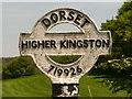 SY7192 : Stinsford: detail of Higher Kingston finger-post by Chris Downer