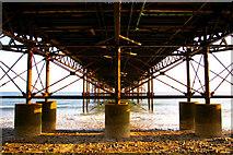 TG2142 : Under Cromer Pier, Norfolk by Christine Matthews