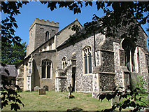 TM1273 : St Mary's church in Yaxley by Evelyn Simak