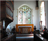 TM1273 : St Mary's church in Yaxley - the chancel by Evelyn Simak