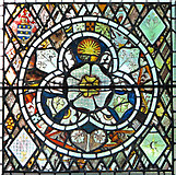 TM1273 : St Mary's church in Yaxley - stained glass by Evelyn Simak