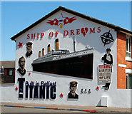 "J3574 : ""Titanic"" mural, Belfast by Albert Bridge"