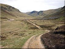 NO0873 : The track up Gleann Taitneach by Karl and Ali