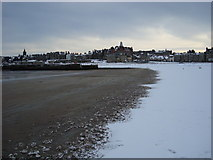 NO5017 : Snow on the West Sands by I A Smellie