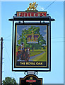 SU8900 : The Royal Oak pub sign, Pagham Road, Lagness by P L Chadwick