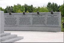 SK1814 : Polish War Memorial, near completion  (3) by Chris' Buet