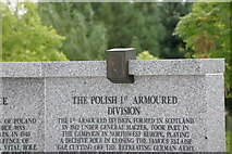 SK1814 : Polish War Memorial, near completion  (4) by Chris' Buet