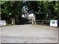 SD4952 : Entrance drive to Malmo Guns, Forton by Peter Bond