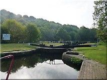 SE1721 : Early morning, Kirklees Low Lock by Christine Johnstone
