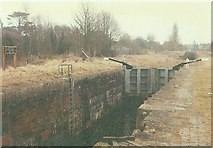 ST9961 : Black Horse Lock No 48, Kennet and Avon Canal, Devizes in 1985 by John Baker