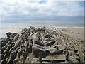 TQ7507 : Rocks and Old Jetty by Oast House Archive