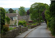 SK2572 : Bar Road descending to Baslow village by Andrew Hill