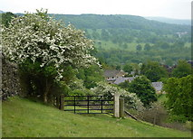 SK2572 : Footpath above Baslow by Andrew Hill