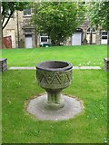 SE0724 : Old Font at St. Paul's Church, Queens Road by Alan Longbottom