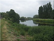 SK3528 : River Trent downstream at Barrow -on -Trent by John M