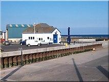 J3114 : Kilkeel Lifeboat Station viewed across the Harbour entrance by Eric Jones