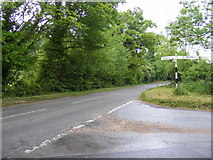 TG1407 : B1108 Watton Road by Adrian Cable